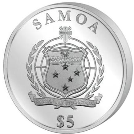 Samoa 5 Dollares - 1OZ Folha 2016