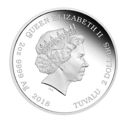 Tuvalu 2$ Parabéns 2018 (2oz)