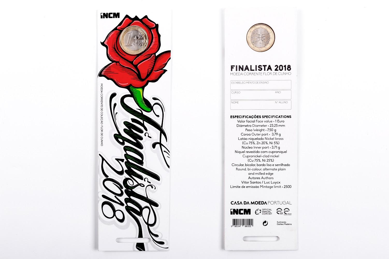 Portugal 1€ Finalista 2018