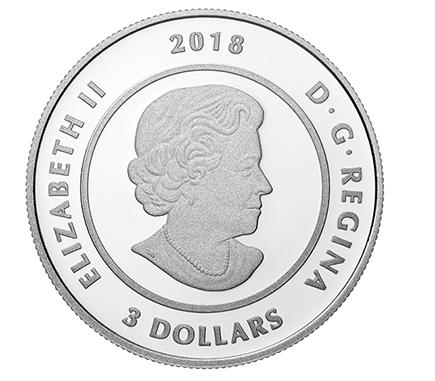 Canadá 3$ Urso da Lua 2018