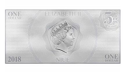 Niue 1 Dollar Bella Nota de Prata