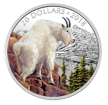 Canadá 20 Dollars Cabra 2018