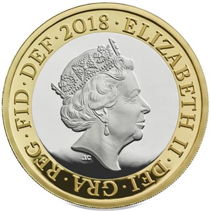 Inglaterra 2 Libras Armistício 2018 Prata proof