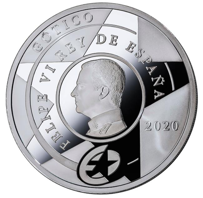 ESPANHA 10€ GÓTICO 2020 PRATA PROOF