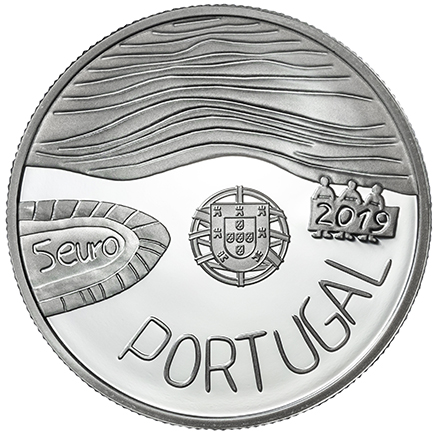 Portugal 5€ O Mar 2019 Prata Proof