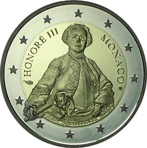 Monaco 2€ Prince Honoré III 2020