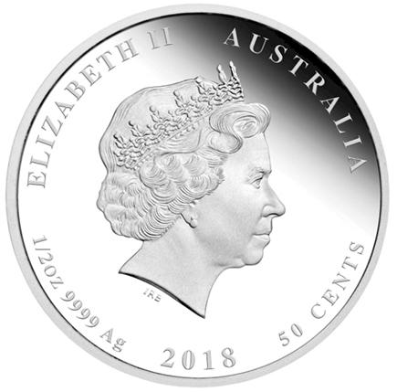 Austrália 50 cents (1/2oz) Nascimento 2018