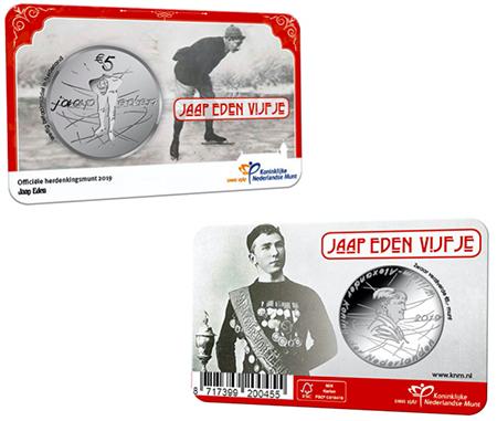 Holanda Jaap Eden 5 Euro UNC em coincard
