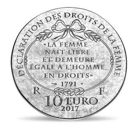 França 10€ Olympe de Gouges 2017