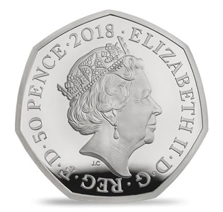 Inglaterra 50 Pence Beatrix Potter - Petter Rabbit 2018