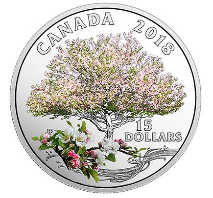 Canadá 15 Dollars Celebração da Primavera 2018