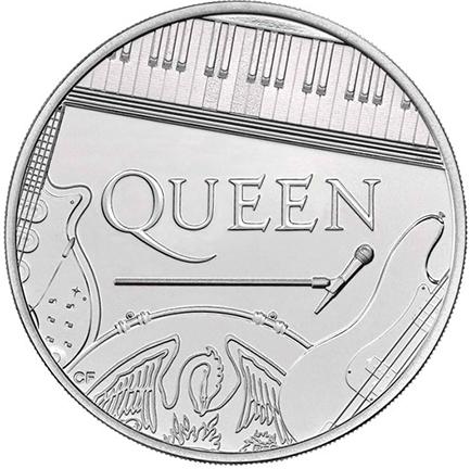 Queen £5 Brilhante  Não Circulada