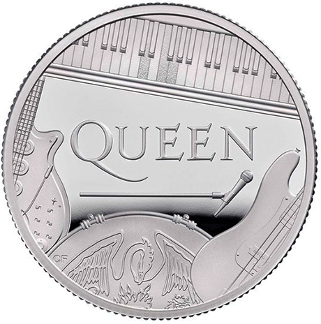Queen 2020 UK 1/2 Onça Prata Proof