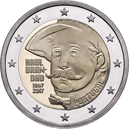 Portugal 2€ 150 Anos do Nascimento de Raul Brandão Proof 2017