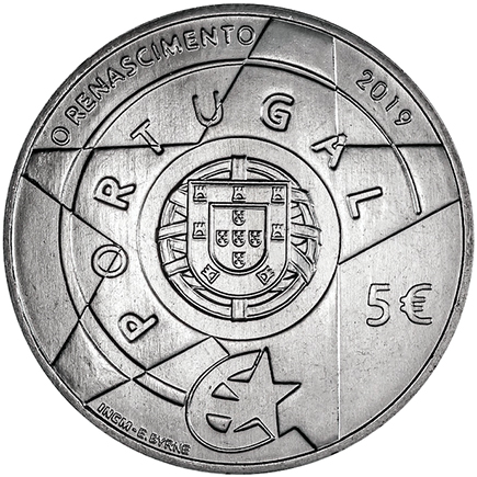 Portugal 5€ Renascimento 2019