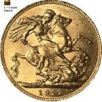 """Libra Georgivs V 1917 """"C"""" ouro"""