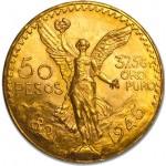 Mexico 50 Pesos ouro 1945