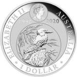 Austrália 1 Dollar Kookaburra 2020 - Onça de Prata