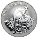 Austrália 1 Dollar Canguru 2010 - Onça em Prata