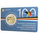 Bélgica 2€ em coincard NL (Holandês) União Económica Belgo Luxemburguesa 2021
