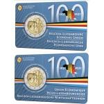 Bélgica 2€ conjunto de 2 coincards FR (Francês) e NL (Holandês)União Económica Belgo Luxemburguesa 2021