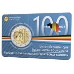 Bélgica 2€ em coincard FR (Francês) União Económica Belgo Luxemburguesa 2021