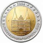 Alemanha 2€ Presidência de Schleswig - Holstentor 2006