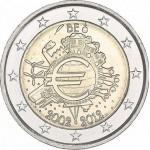 Bélgica 2€ 10 Anos do Euro 2012