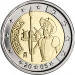 Espanha 2€ 400 Anos da 1ª Edição do Livro Dom Quixote 2005