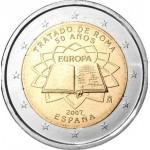 Espanha 2€ Tratado de Roma 2007