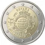 Espanha 2€ 10 Anos do Euro 2012
