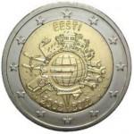 Estónia 2€ 10 Anos do Euro 2012