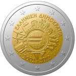Grécia 2€ 10 Anos do Euro 2012