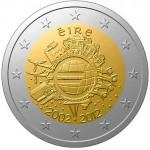 Irlanda 2€ 10 Anos do Euro 2012