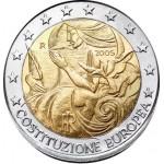 Itália 2€ Constituição Europeia 2005
