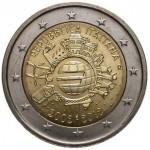 Itália 2€ 10 Anos do Euro 2012
