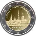 Letónia 2€ Riga Capital Europeia da Cultura 2014