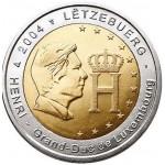 Luxemburgo 2€ Grão Duque Henri 2004