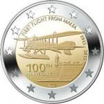 Malta 2€  100 anos do 1º Voo 2015