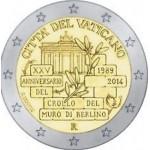 Vaticano 2€ 25º Anos da Queda do Muro de Berlim 2014