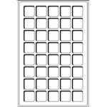 Tabuleiro p/Moedas - TAB40BL - 2 Tabuleiros