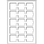 Tabuleiro 15 Divisórias p/ Quadrum ou Alvéolos