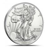 USA 1 Dólar 2021 1 oz Prata