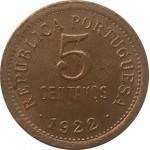 Portugal 5 Centavos 1922