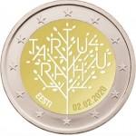 Estónia 2€ 2020 Tratado de Tartu