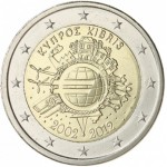 Chipre 2€ 10 Anos do Euro 2012