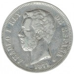 Espanha 5 Pesetas de 1871