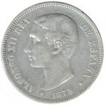 Espanha 5 Pesetas de 1875