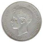 Espanha 5 Pesetas de 1898