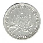 França 1 Franco de 1914